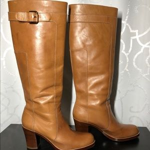 Womens via spiga tall brown leather boots 9.5